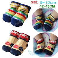 ถุงเท้าเด็กลายรถสีสดใส-คละแบบคละสี-(28-คู่-/pack)