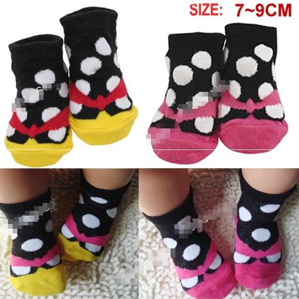 ถุงเท้าเด็กลายจุดใหญ่สีสดใส คละสี (20 คู่ /pack)