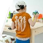 เสื้อยืดแขนสั้นใบไม้ห้อยระย้า-สีส้ม-(5size/pack)