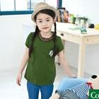 เสื้อยืดแขนสั้นใบไม้ห้อยระย้า-สีเขียว-(5size/pack)