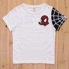 เสื้อยืดแขนสั้น-Spider-Man-สีขาว-(5size/pack)