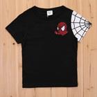 เสื้อยืดแขนสั้น-Spider-Man-สีดำ-(5size/pack)