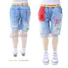 กางเกงยีนส์ขาสามส่วน-D2B-สีฟ้า-(5size/pack)