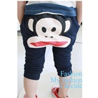 กางเกงขายาวลิงน้อยยิ้มแป้นสีกรม-(5size/pack)