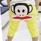 กางเกงขายาวลิงน้อยยิ้มแป้นสีเหลือง-(5size/pack)