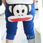 กางเกงขายาวลิงน้อยยิ้มแป้นสีน้ำเงิน-(5size/pack)