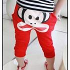 กางเกงขายาวลิงน้อยยิ้มแป้นสีแดง-(5size/pack)