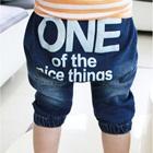กางเกงยีนส์ขาสามส่วน-One-สีน้ำเงิน-(5size/pack)