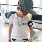 เสื้อยืดแขนสั้น-Play-สีขาวตาดำ(5size/pack)