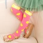 ถุงเท้ายาวลายจุด-สีชมพู-(12-คู่-/pack)