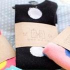 ถุงเท้ายาวลายจุด-สีดำจุดขาว-(12-คู่-/pack)