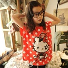เสื้อยืดแขนสั้น-Hello-Kitty-สีส้ม-(5size/pack)