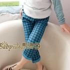 กางเกงขายาวลายสก็อตสีฟ้า-(5-ตัว/pack)