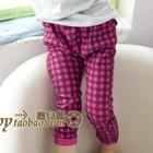 กางเกงขายาวลายสก็อตสีชมพู-(5-ตัว/pack)