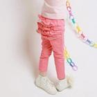กางเกงขายาวระบายหลัง-สีชมพู-(5-ตัว/pack)