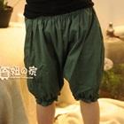 กางเกงขาสามส่วนลายจุด-สีเขียว-(5-ตัว/pack)