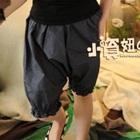 กางเกงขาสามส่วนลายจุด-สีน้ำเงิน-(5-ตัว/pack)