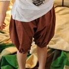 กางเกงขาสามส่วนลายจุด-สีส้ม-(5-ตัว/pack)
