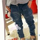 กางเกงยีนส์ขายาวกระดุมหน้า-สีฟ้า-(5-ตัว/pack)