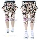 กางเกงขาสามส่วนหัวใจลายดวง-สีขาว(5size/pack)