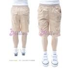 กางเกงขาสามส่วน-Monkey-สีกากี-(5size/pack)