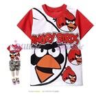 เสื้อยืดแขนสั้น-Angry-Bird-แขนสีแดง-(6size/pack)