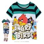 เสื้อยืดแขนสั้น-Angry-Bird-สีเขียวดำ(6size/pack)