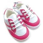 รองเท้าสปอร์ตเกิล์ล-สีขาวชมพู-(4-คู่/แพ็ค)