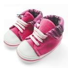 รองเท้าผ้าใบเด็กทรงสูง-สีชมพู-(4-คู่/แพ็ค)