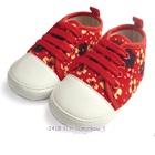 รองเท้าผ้าใบเด็กดอกไม้จิ้มลิ้มสีแดง-(4-คู่/แพ็ค)