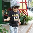 เสื้อยืดคอกลม--Triple-Star-สีเทาเข้ม-(5size/pack)