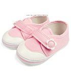 รองเท้าเด็กดอกไม้สดใสสีชมพู-(4-คู่/แพ็ค)