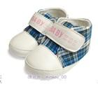 รองเท้าเด็ก-Baby-ลายสก็อตสีฟ้า-(4-คู่/แพ็ค)