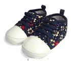 รองเท้าผ้าใบเด็กดอกไม้จิ้มลิ้มสีกรม-(4-คู่/แพ็ค)