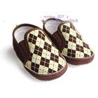 รองเท้าเด็กสไตล์ผู้ดีอังกฤษสีน้ำตาล-(4-คู่/แพ็ค)