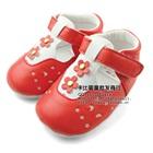 รองเท้าเด็กดอกไม้น่ารัก-สีแดง-(4-คู่/แพ็ค)