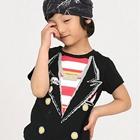 เสื้อยืดคอกลม--ลายสูทร-สีดำ-(5size/pack)