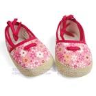 รองเท้าเด็กดอกไม้เล็กๆ-สีชมพู-(4-คู่/แพ็ค)