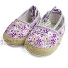 รองเท้าเด็กดอกไม้เล็กๆ-สีม่วง-(4-คู่/แพ็ค)