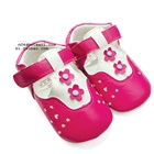 รองเท้าเด็กดอกไม้-2-ดอก-สีชมพู-(4-คู่/แพ็ค)