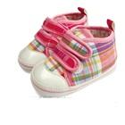 รองเท้าเด็กดอก-ลายสก็อต-สีชมพู-(4-คู่/แพ็ค)