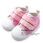 รองเท้าเด็ก-ลายตาราง-สีชมพู-(4-คู่/แพ็ค)