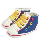 รองเท้าผ้าใบเด็ก-สีฟ้า-(10-คู่/แพ็ค)