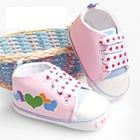 รองเท้าเด็กหัวใจหลากสี-สีชมพู-(5-คู่/แพ็ค)