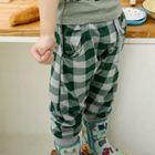 กางเกงขายาวลายสก๊อต-สีเขียว-(4size/pack)
